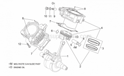 Engine - Crankshaft Ii - Aprilia - Piston assy 96,944 mm (A)
