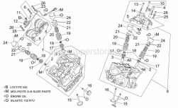 Engine - Cylinder Head And Valves - Aprilia - Rear cylinder head cpl.grey