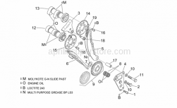 Engine - Front Cylinder Timing System - Aprilia - Spacer screw