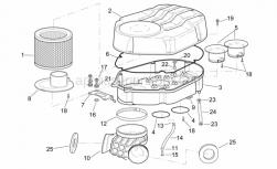 Frame - Air Box - Aprilia - Screw w/ flange M6x12