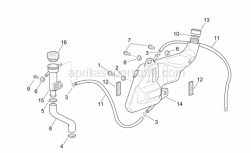 Frame - Expansion Tank - Aprilia - Hose clamp 17-25
