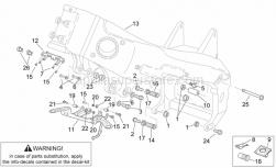Frame - Frame III - Aprilia - LH front engine spacer