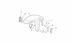 Frame - Front Body - Front Mudguard - Aprilia - Nut M4