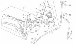Frame - Front Master Cilinder - Aprilia - Screw w/ flange M6x25