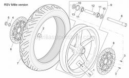 Frame - Front Wheel Rsv Mille Version - Aprilia - Tubeless tyre valve