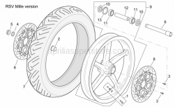 Frame - Front Wheel Rsv Mille Version - Aprilia - Screw w/ flange M8x20