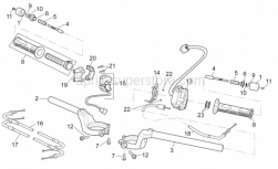 Frame - Handlebar - Aprilia - Engine stop-start device