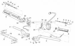 Frame - Handlebar - Aprilia - Rear gas lever U-bolt