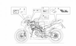 Frame - Plate Set And Handbook - Aprilia - White hose clip D17,5x8
