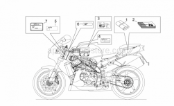 Frame - Plate Set And Handbook - Aprilia - Washer 6,4x15x1