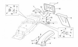 Frame - Rear Mudguard - Aprilia - Hex socket screw M5x16