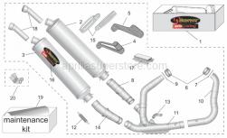 Accessories - Acc. - Performance Parts Ii - Aprilia - RH exhaust pipe Inox