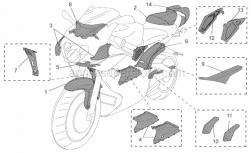 Accessories - Acc. - Special Body Parts - Aprilia - Central radiator cover Carb.