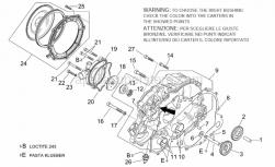 Engine - Water Pump - Aprilia - Bearing half-shell 20x24x16