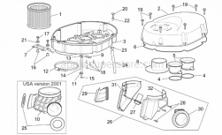 Frame - Air Box - Aprilia - LH intake manifold