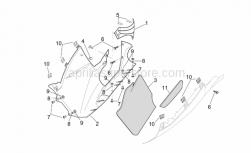 Frame - Central Body - Rh Fairings - Aprilia - RH lower fairing, black