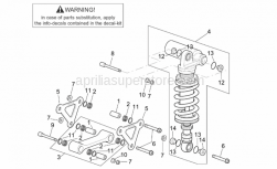 Frame - Connecting Rod - Rear Shock Abs. - Aprilia - Screw w/ flange M10x65