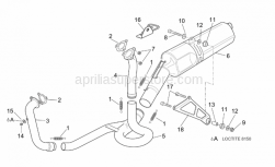 Frame - Exhaust Pipe - Aprilia - Rear exhaust pipe