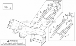 Frame - Frame I - Aprilia - Saddle support