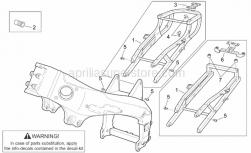 Frame - Frame I - Aprilia - Saddle lock support