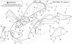 Frame - Front Body - Front Fairing - Aprilia - Rubber w/ insert *
