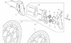 Frame - Front Brake Caliper - Aprilia - LH Front brake caliper, gold