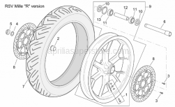 "Frame - Front Wheel Rsv Mille ""R"" Version - Aprilia - Screw w/ flange M8x20"