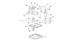 Frame - Fuel Pump I - Aprilia - White hose clip D.13,5x6