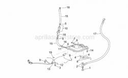 Frame - Fuel Pump II - Aprilia - White hose clip d.13x6