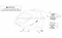 Frame - Fuel Tank II - Aprilia - Fuel filler cap