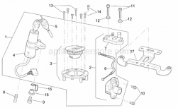Frame - Lock Hardware Kit - Aprilia - Saddle lock support