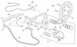 Frame - Rear Brake Caliper - Aprilia - Rear brake hose