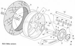 Rear wheel, grey