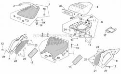 Frame - Saddle - Aprilia - Pillion seat strap, black