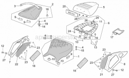 Frame - Saddle - Aprilia - Adhesive sponge