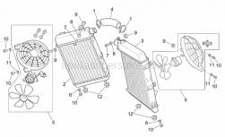 Frame - Water Coolers - Aprilia - Screw w/ flange M6x12