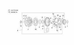 Engine - Clutch II - Aprilia - Springholder plate