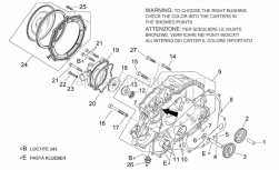 Engine - Water Pump - Aprilia - Bearing half-shell 20x24x16