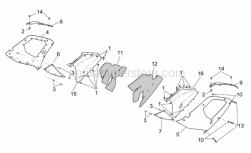 Frame - Central Body - Upper Fairings - Aprilia - Pin