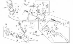 Frame - Clutch Pump - Aprilia - Rear brake pump union