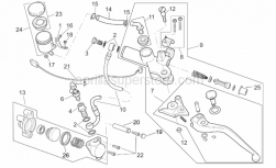 Frame - Clutch Pump - Aprilia - Fairing rubber spacer