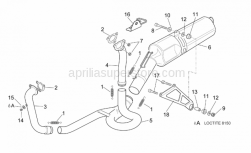 Frame - Exhaust Pipe - Aprilia - Exhaust pipe support clamp