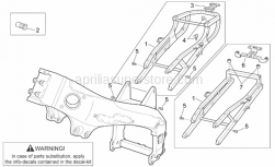 Frame - Frame I - Aprilia - Saddle lock support