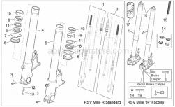 Frame - Fron Fork II - Aprilia - Front fork revision kit