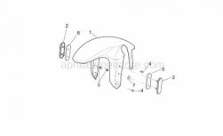 Frame - Front Body - Front Mudguard - Aprilia - Screw w/ flange M5x12