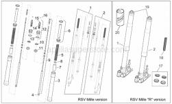 Frame - Front Fork I - Aprilia - Front fork revision kit