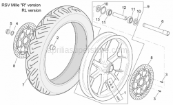 "Frame - Front Wheel Rsv Mille ""R"" Version - Aprilia - Wheel spindle nut"