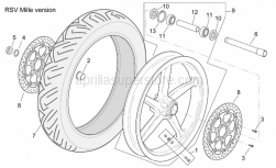 Frame - Front Wheel Rsv Mille Version - Aprilia - Ball bearing 25x47x12