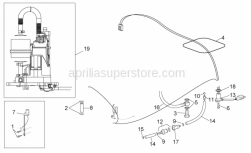 Frame - Fuel Pump - Aprilia - Fuel pipe