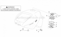 Frame - Fuel Tank II - Aprilia - Fuel tank gasket